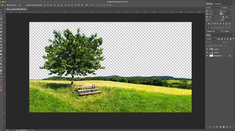 background erasing final process