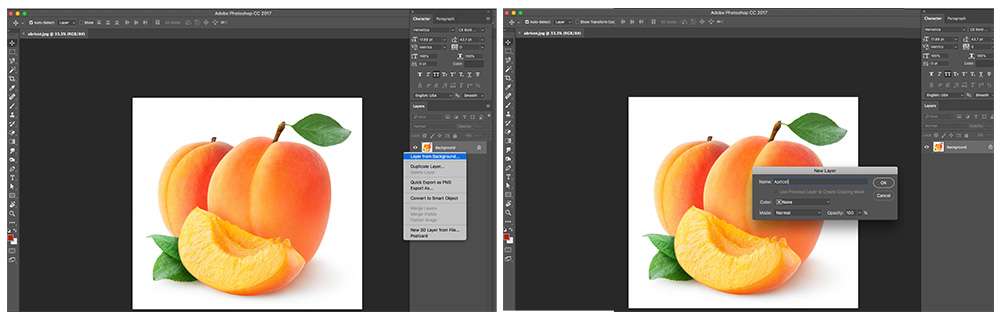 Selecting the layer