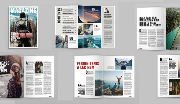 final check of magazine design