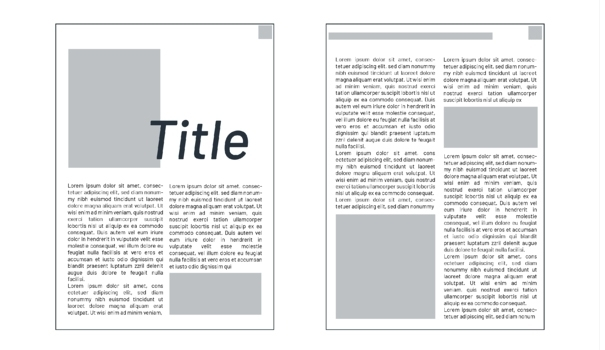 magazine master layout page