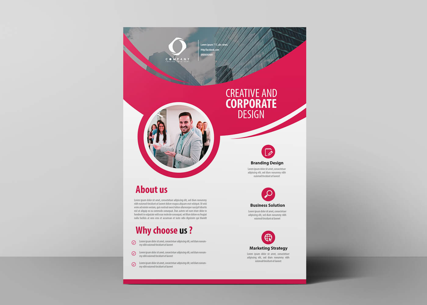 creative company flyer design