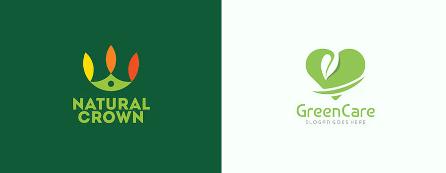 green color logos