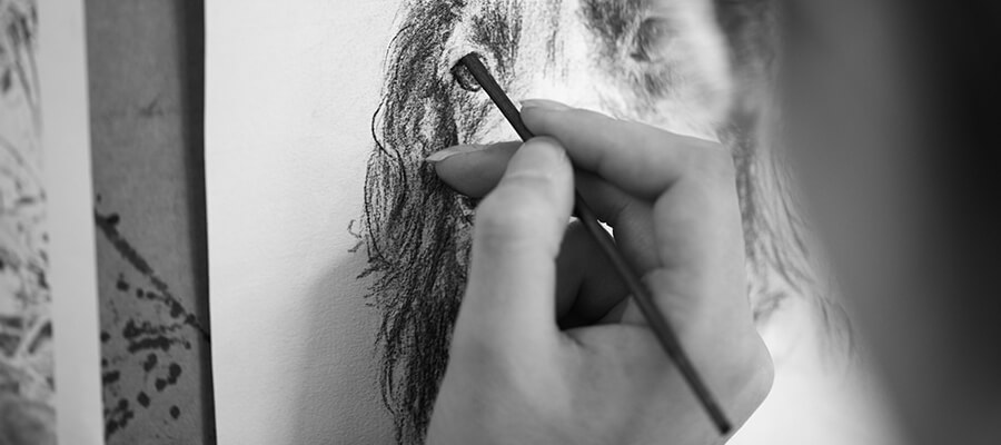 controlling smudging of a pencil