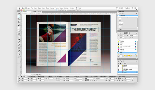 QuarkXPress desktop publishing software