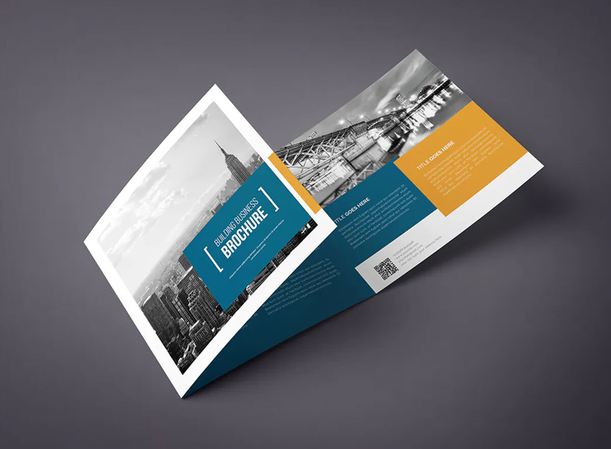 construction tri fold brochure