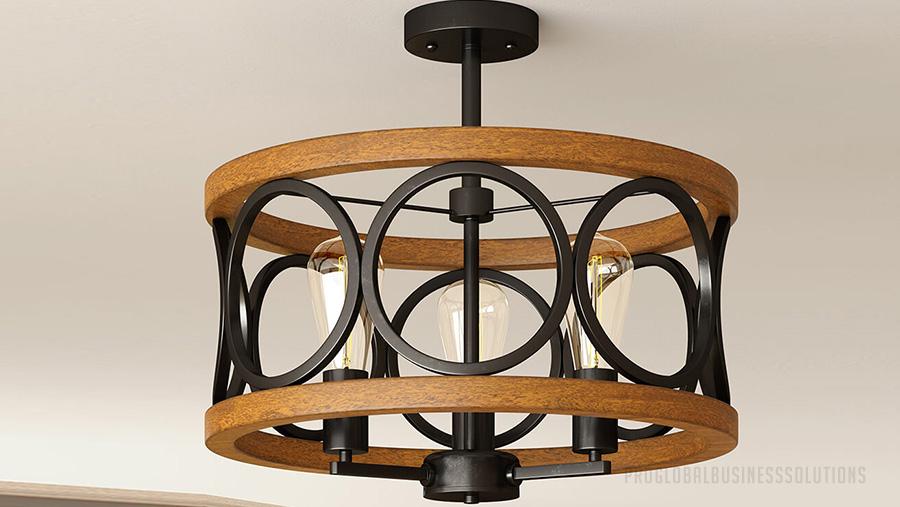 roduct rendering of modern light design