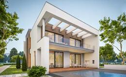 villa exterior 3d modeling
