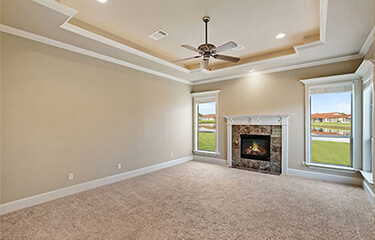 Empty Room Space for virtual staging