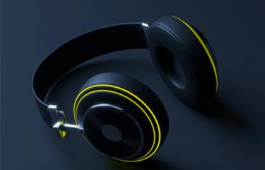 headphones 3d product model