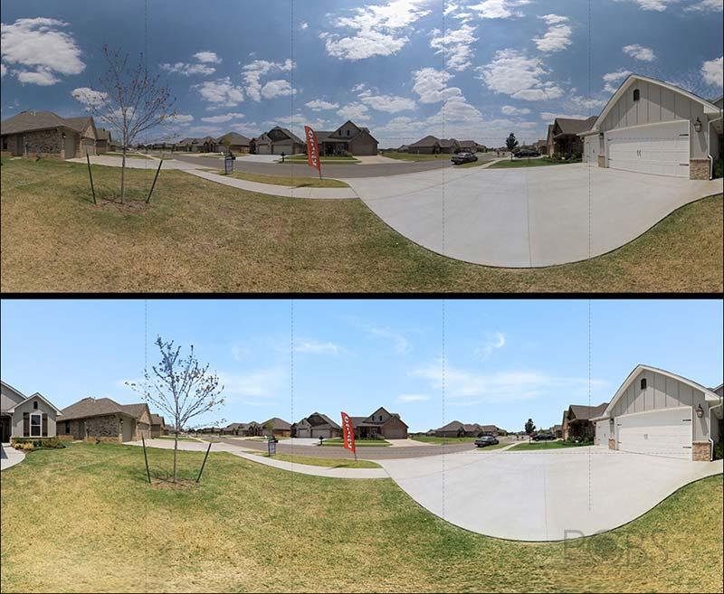 edited exterior panorama view