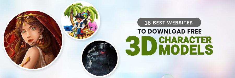 free character 3D models