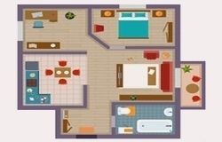 colored floor plans