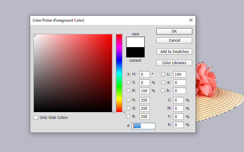 select foreground color