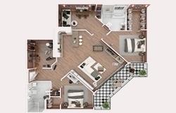textured floor plan